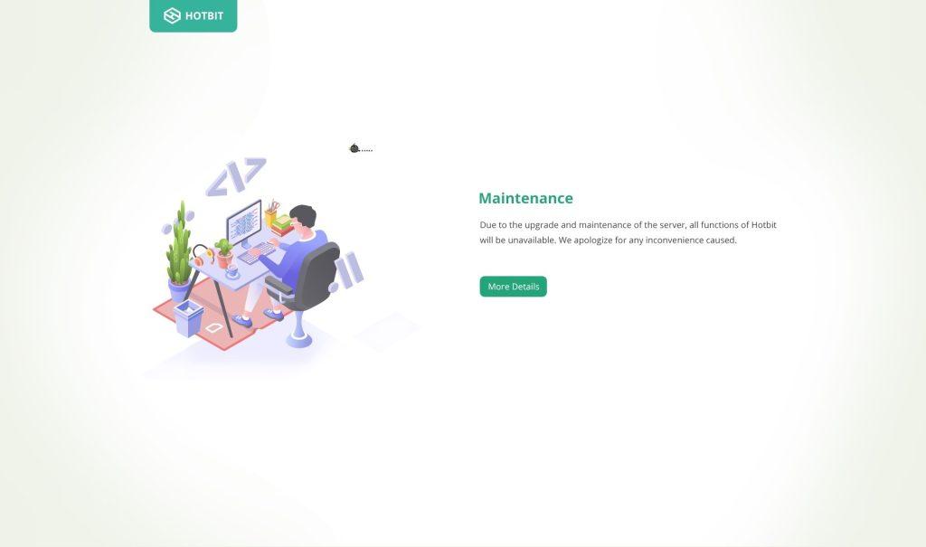 maintenance hotbit