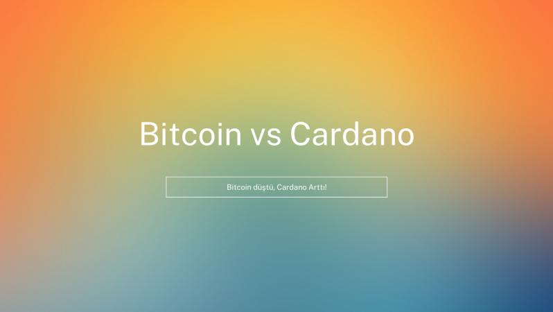 Bitcoin düştü, Cardano Arttı!